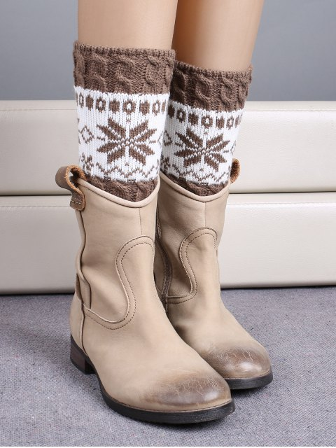 lady Christmas Snowflake Boot Cuffs -   Mobile