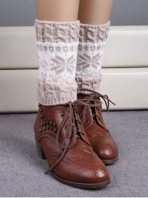 hot Christmas Snowflake Boot Cuffs -   Mobile