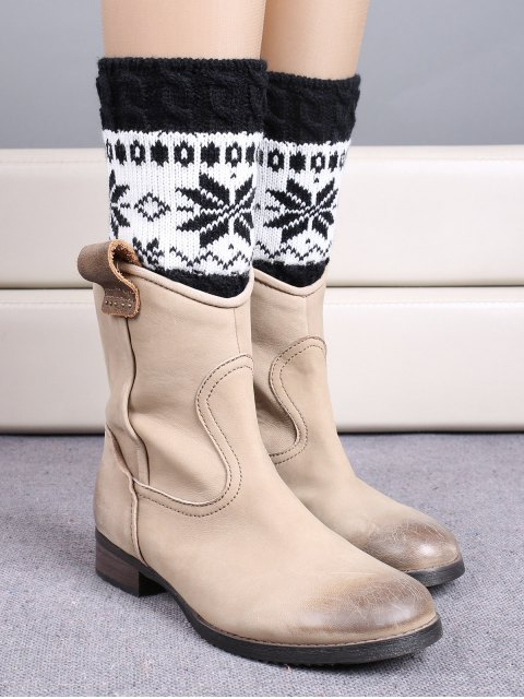 outfit Christmas Snowflake Boot Cuffs - BLACK  Mobile