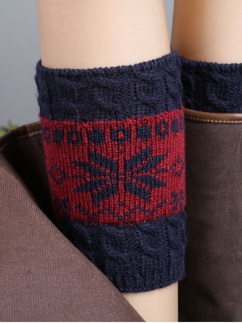 shop Christmas Snowflake Boot Cuffs -   Mobile