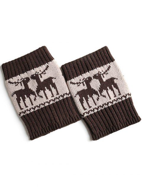fancy Christmas Deer Boot Cuffs -   Mobile