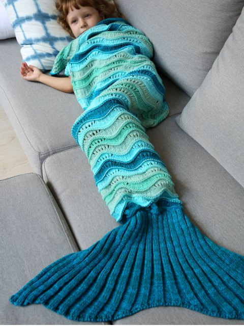 outfit Knitted Kids Mermaid Blanket - COLORMIX  Mobile