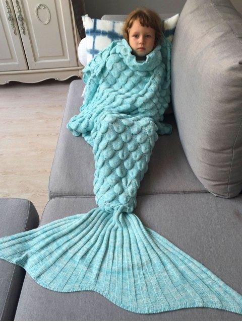 online Knitted Mermaid Blanket for Kids -   Mobile