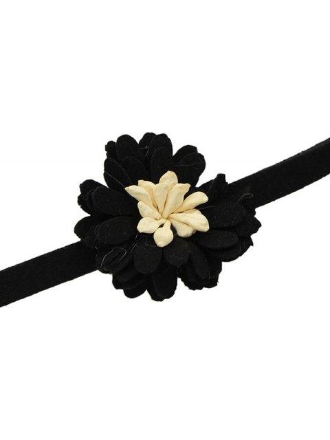 sale Artificial Leather Flower Velvet Choker Necklace -   Mobile