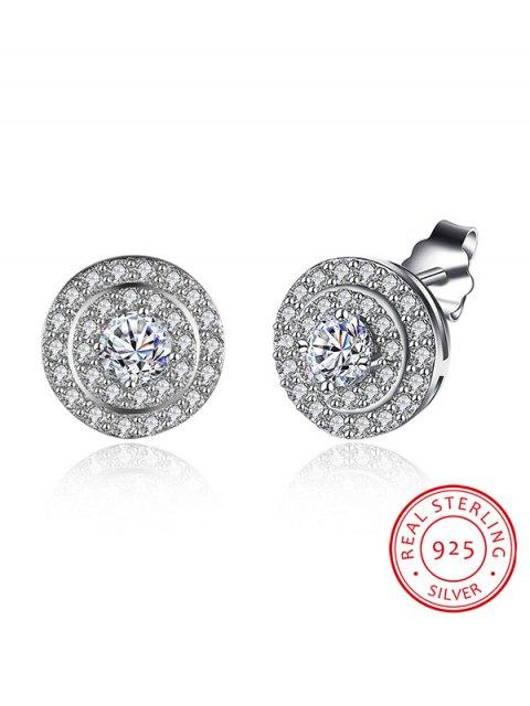 sale S925 Diamond Earrings - SILVER  Mobile