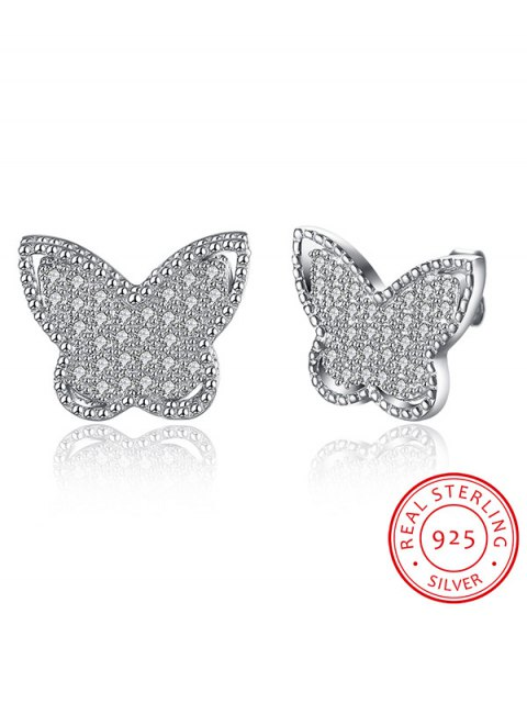affordable S925 Diamond Butterfly Earrings - SILVER  Mobile