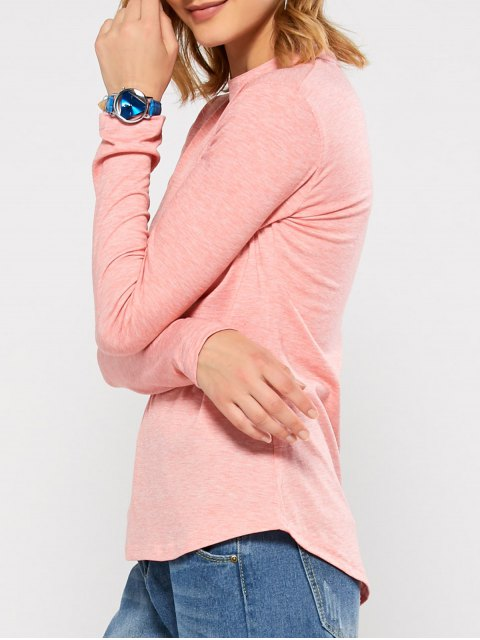 buy Cut Out Stand Neck Top - PINK M Mobile