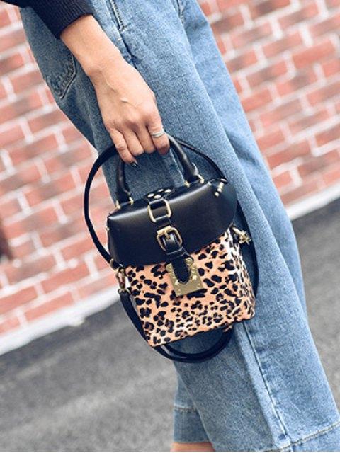 online Box Shape Leopard Print Buckle Crossbody Bag - LEOPARD  Mobile