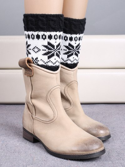 Christmas Snowflake Boot Cuffs - BLACK  Mobile