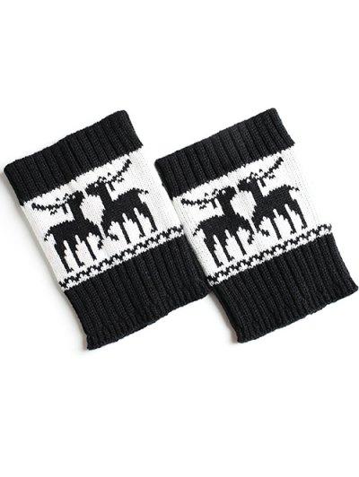 Christmas Deer Boot Cuffs - BLACK  Mobile