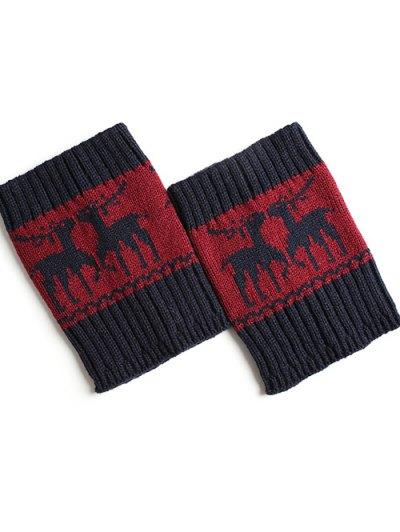 Christmas Deer Boot Cuffs - CADETBLUE  Mobile