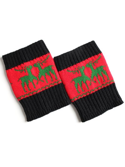Christmas Deer Boot Cuffs - RED  Mobile