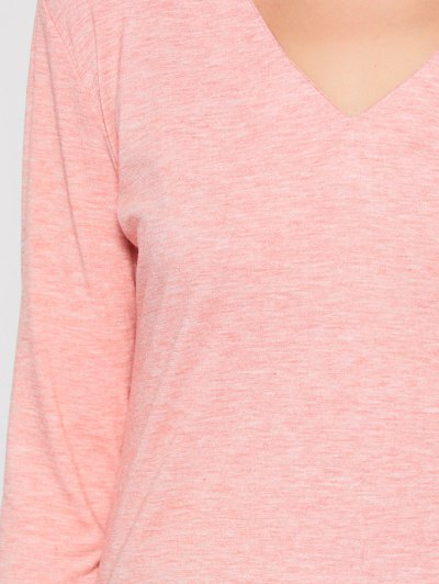 Cut Out Stand Neck Top - PINK L Mobile