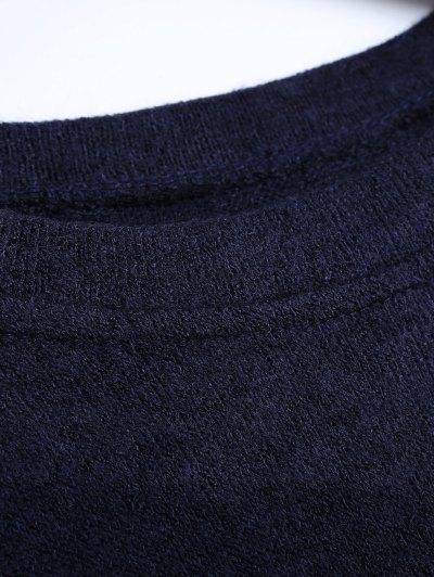 Side Zipper Sweater Dress - CADETBLUE M Mobile