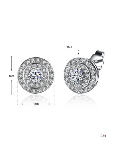 S925 Diamond Earrings - SILVER  Mobile