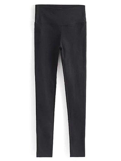 Casual Stretchy Pencil Pants - BLACK L Mobile