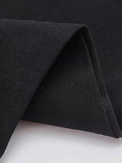 Casual Stretchy Pencil Pants - BLACK M Mobile