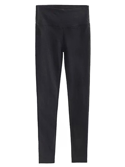 Casual Stretchy Pencil Pants - BLACK S Mobile