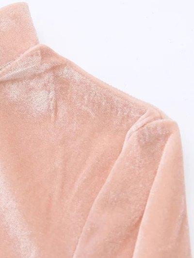Vintage Velvet Slit Dress - GRAY S Mobile