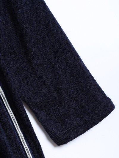 Side Zipper Sweater Dress - CADETBLUE XL Mobile