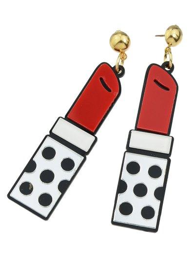 Lipstick Drop Earrings - SILVER  Mobile