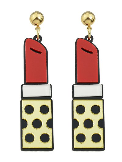 Lipstick Drop Earrings - GOLDEN  Mobile