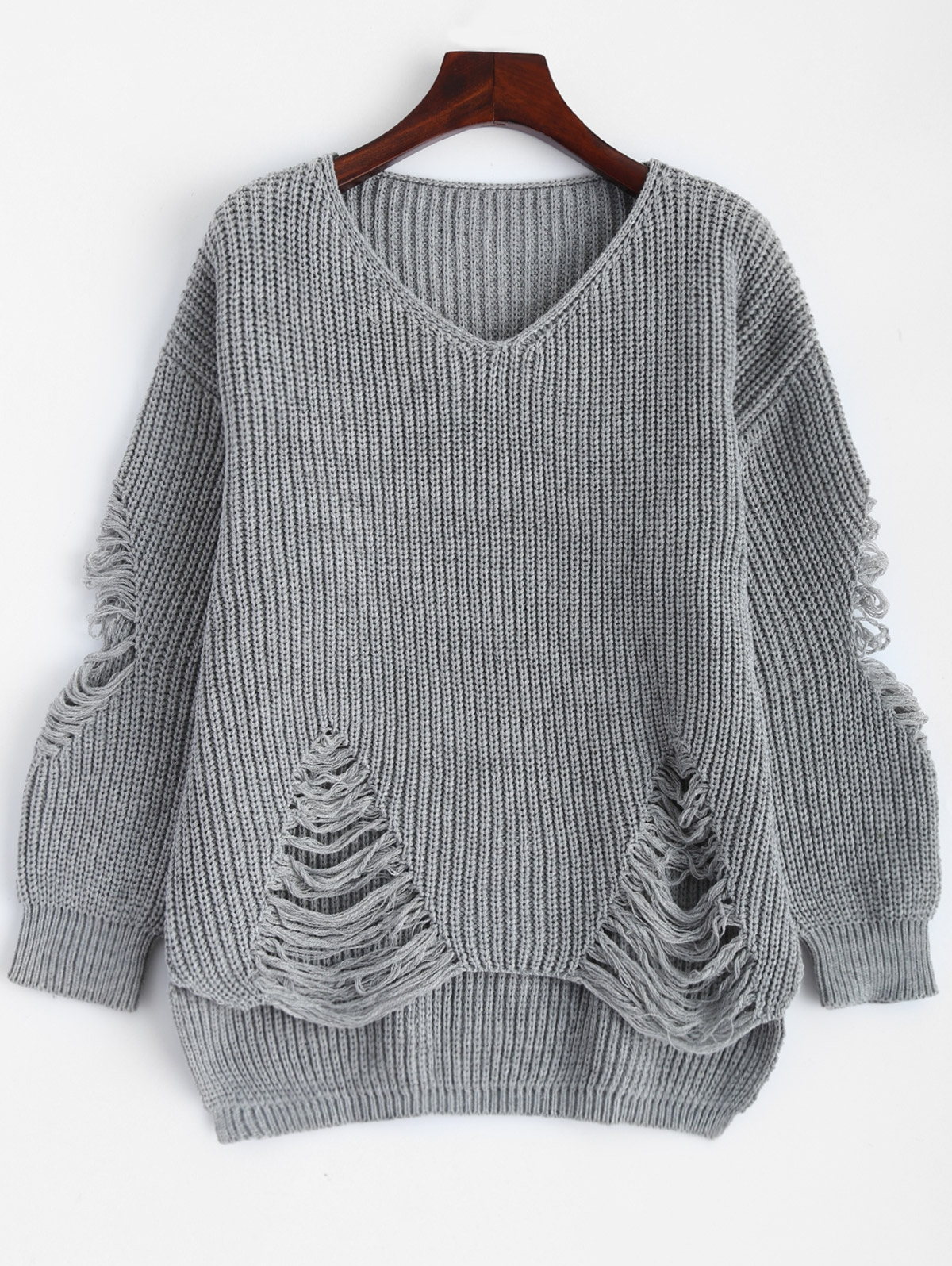 Ripped Pullover Sweater