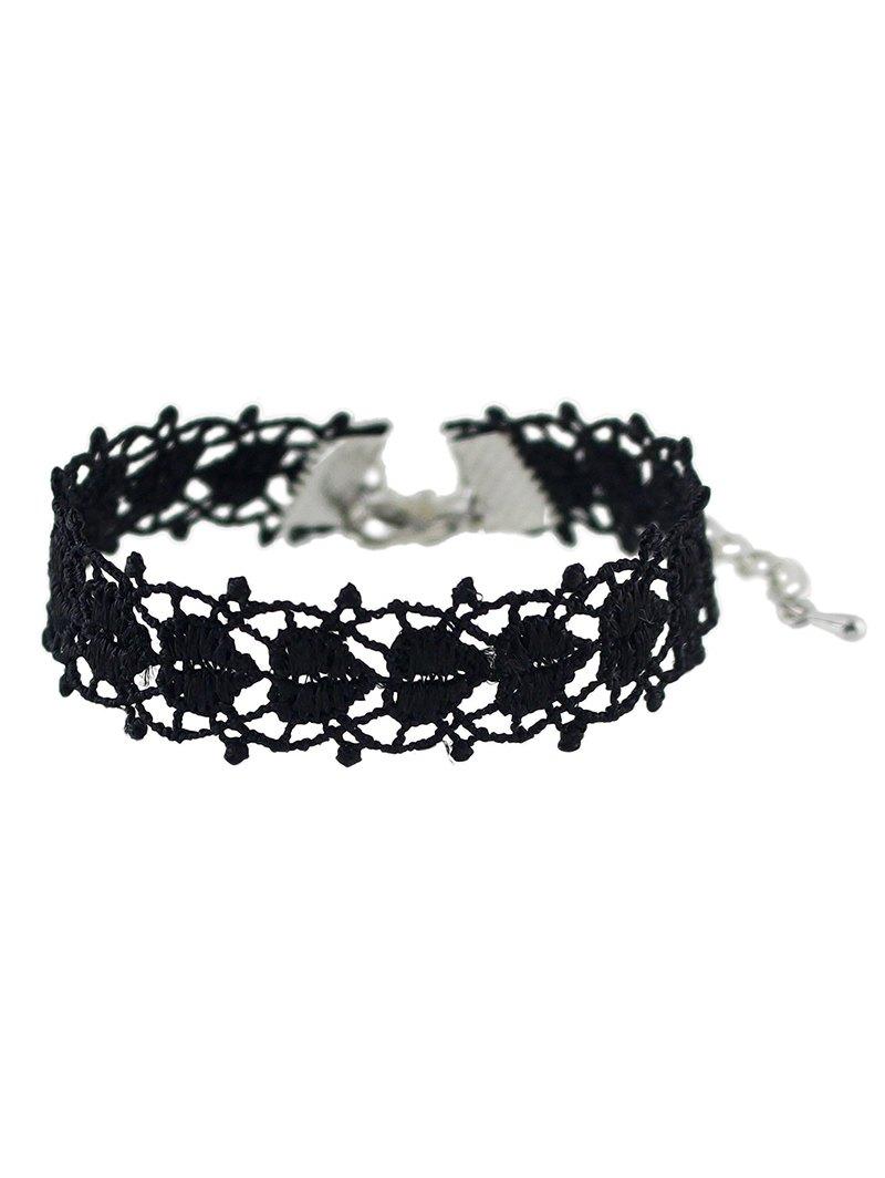 Crochet Lace Heart Bracelet