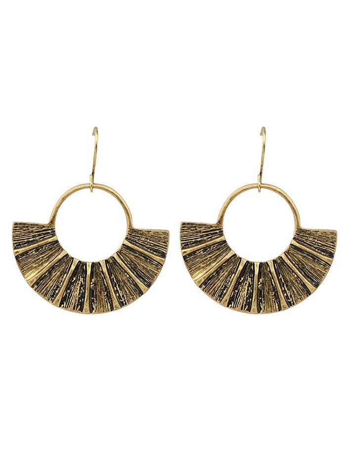 Fan-Shaped Circle Earrings