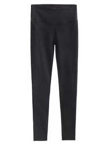 Casual Stretchy Pencil Pants - Black