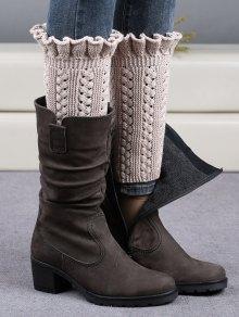 Ruffled Knit Boot Cuffs