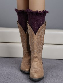 Ruffled Knit Boot Cuffs