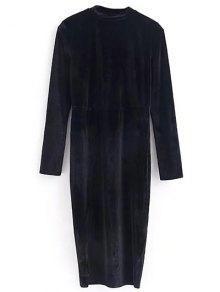 Vintage Velvet Slit Dress