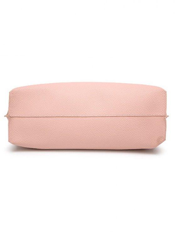 Textured PU Leather Tassel Shoulder Bag - BLACK  Mobile
