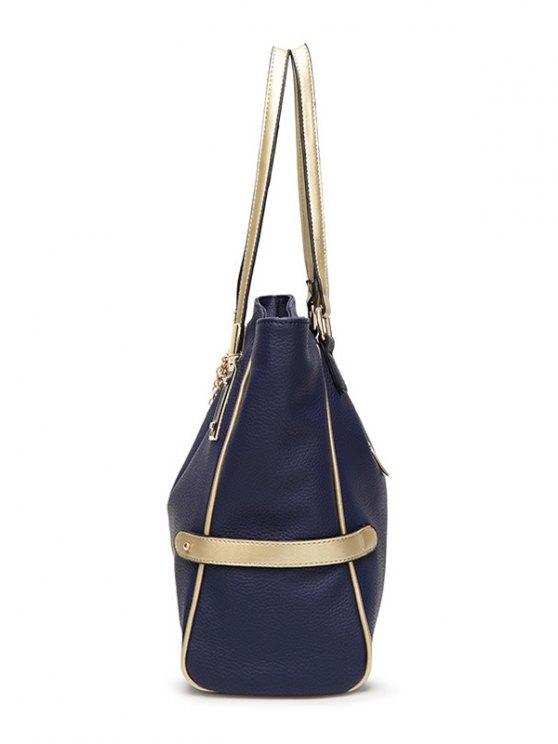 Chains Pendant PU Leather Shoulder Bag -   Mobile