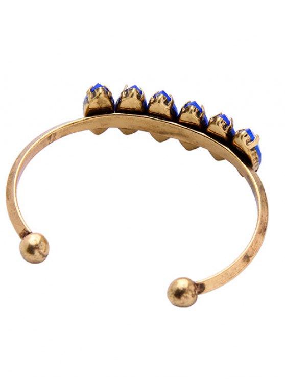 Faux Sapphire Cuff Bracelet -   Mobile