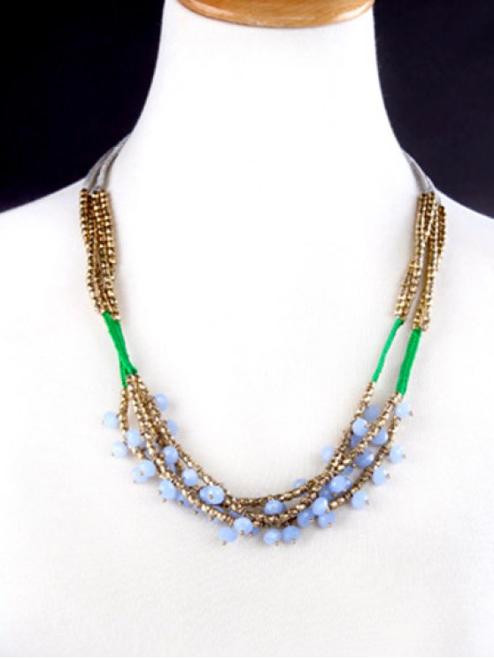 Bohemian Beaded Braid Necklace -   Mobile