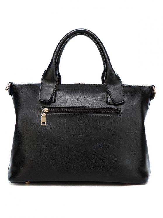 Metal Chains PU Leather Handbag - YELLOW  Mobile