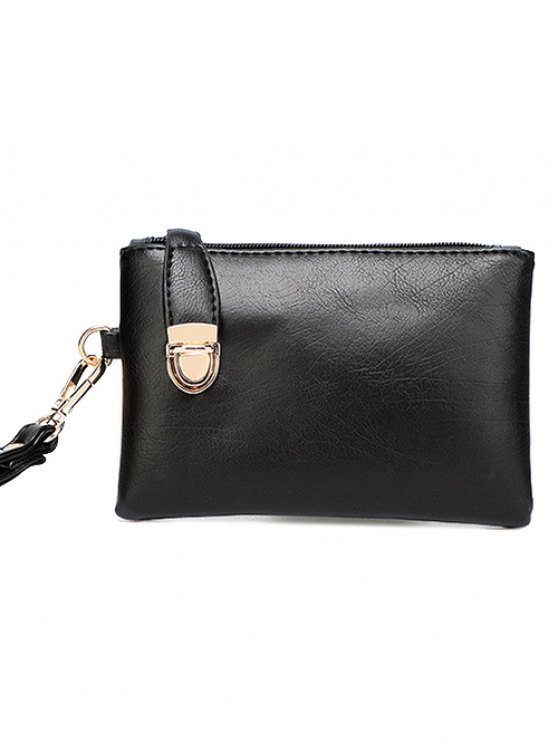 Metal Chains PU Leather Handbag -   Mobile