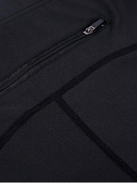 High Waist Skinny Yoga Leggings - BLACK XL Mobile