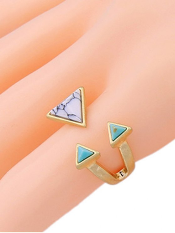 Artificial Turquoise Triangle Ring -   Mobile