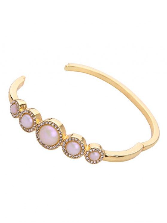 Artificial Pearl Rhinestone Bracelet -   Mobile