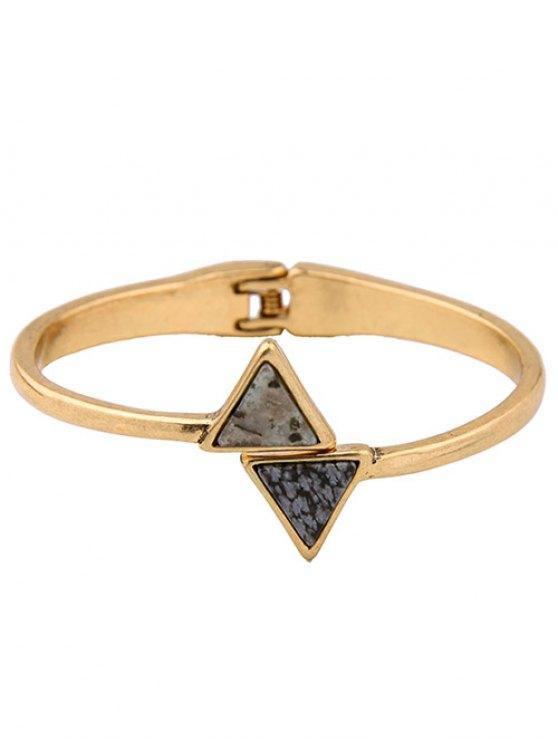 Natural Stone Triangle Vintage Bracelet -   Mobile