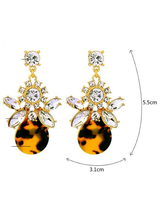 Leopard Print Rhinestone Earrings - LEOPARD  Mobile