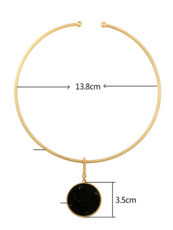 Circle Natural Stone Necklace -   Mobile