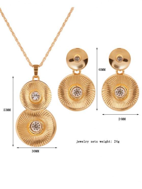 Vintage Alloy Rhinestone Jewelry Set -   Mobile