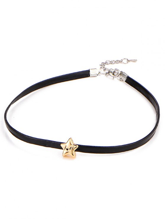 Star Engraved Love Choker Necklace -   Mobile