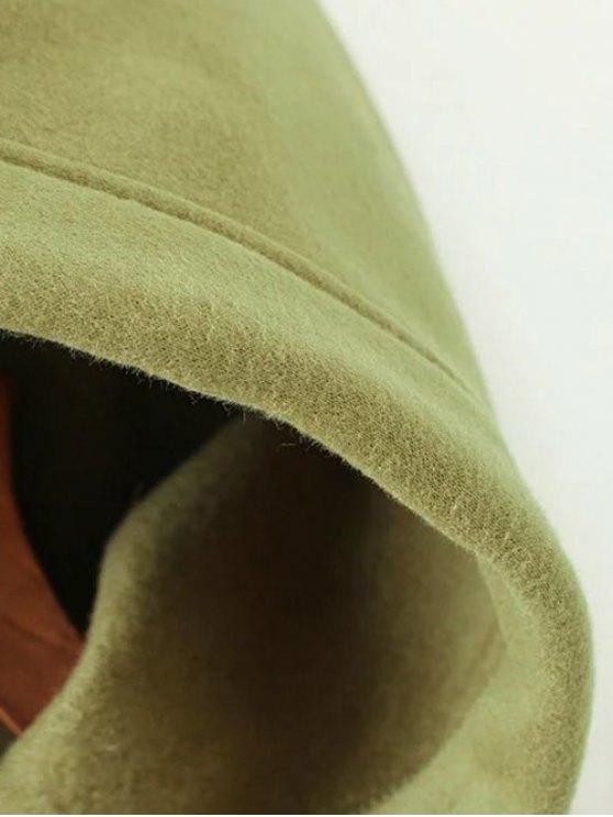 String Zippered Hoodie - BLACK M Mobile