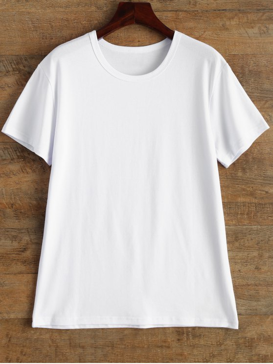 Jewel Neck Queen Crown T-Shirt - WHITE L Mobile