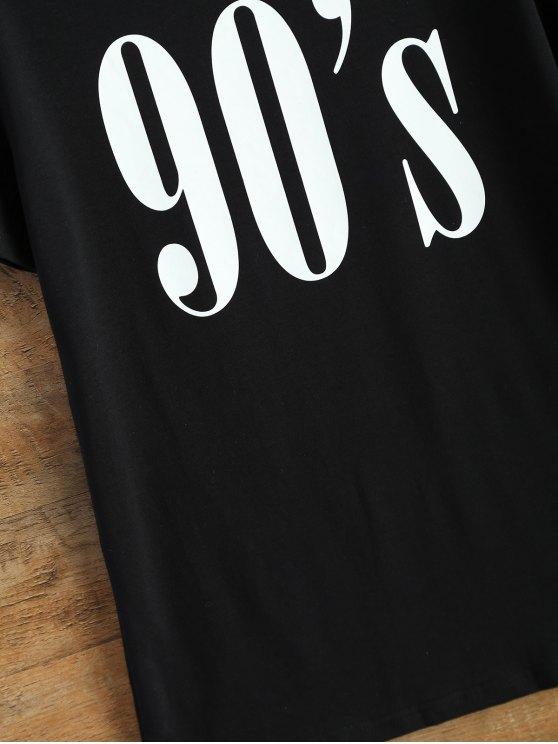 Jewel Neck 90's T-Shirt - BLACK L Mobile